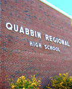 Quabbin Regional High School sign on building